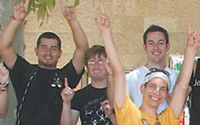 A Young Judaea group visits Israel on a Birthright trip in the summer of 2009.