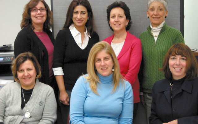 Members of the JFCS Senior Services Department who will be honored at the gala include, from left, Andrea Gaynor, director of senior services Jill Jaclin, Beth Englezos; and, standing, Beth Hammer, Shamila Malik, Ellen Schwartz, and Dottie Szczech. Not pi