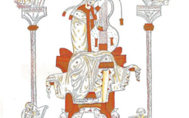 The imageof King David, shown on the Princeton University Sefer Hasidim Database website, is adapted from a reproduction of a 12th-century manuscript. The Hebrew text is taken from the Ambrosiana Sefer Hasidim manuscript.