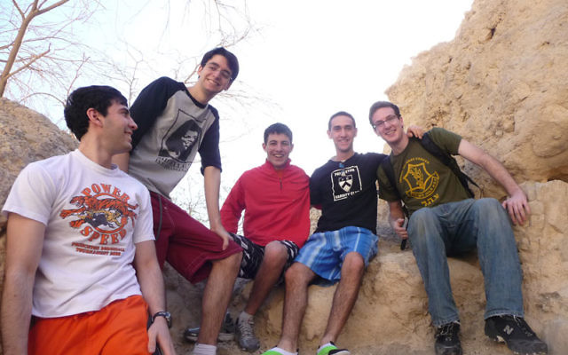 Princeton undergraduates in Ein Gedi on a Birthright Israel trip in December 2009 Photos courtesy Princeton University Center for Jewish Life