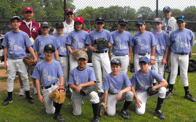 The boys' baseball team won the gold medal at the Junior Maccabi Games, held May 16 in Wynnewood, Pa. Photo courtesy Sherri Feldscher