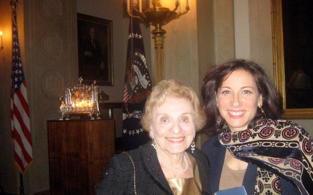 Meryl Frank of Highland Park took her mother, Rosalie Frank of Ocean, to the Dec. 16 White House Hanukka party.