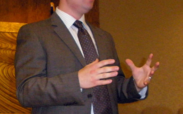 Yaakov Katz, a defense analyst and military correspondent for the Jerusalem Post, spoke at the East Brunswick Jewish Center about the threat facing Israel.