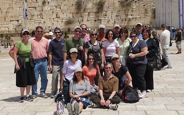 The Marion and Norman Tanzman Fellows at the Kotel in Jerusalem during their April 12-21 Israel mission. Photos courtesy Jewish Federation of Greater Middlesex County