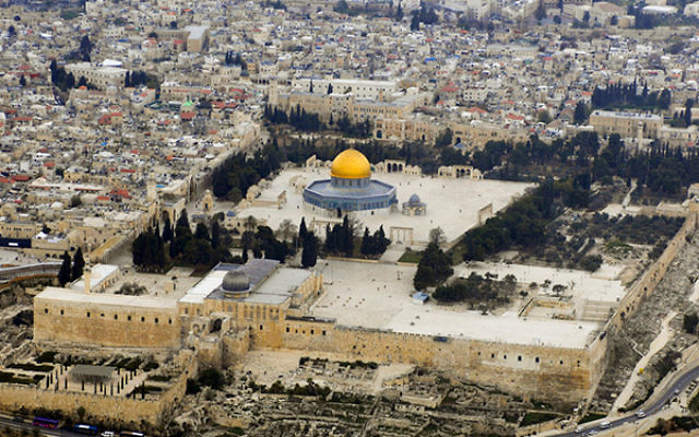 A view of the Temple Mount.