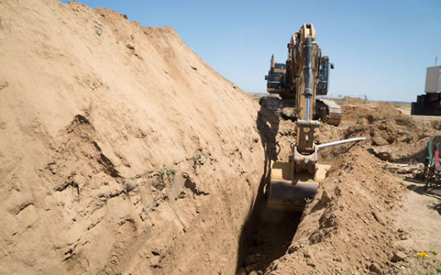 The Israel Defense Forces uncovers a terror tunnel running from the southern Gaza Strip to Israel, May 5, 2016. (Courtesy of IDF)