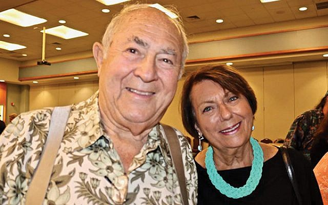 Gerald and Ruth Rosenfeld; Ruth is a child survivor who is part of the Chhange speakers bureau and serves as an exhibit docent.