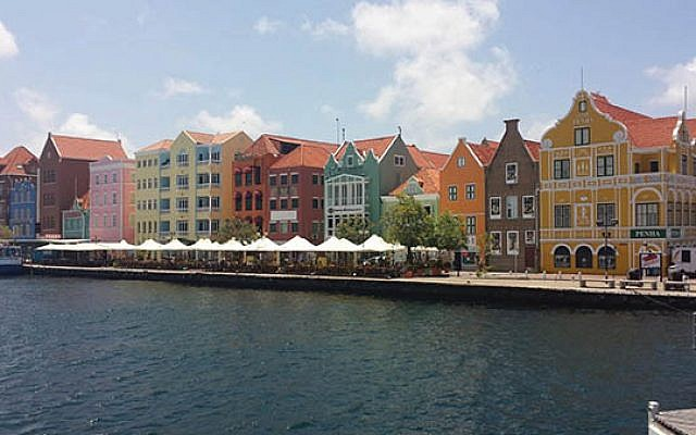 Pastel-colored buildings in Willemstad, the capital. (Photo courtesy New York Jewish Travel Guide)