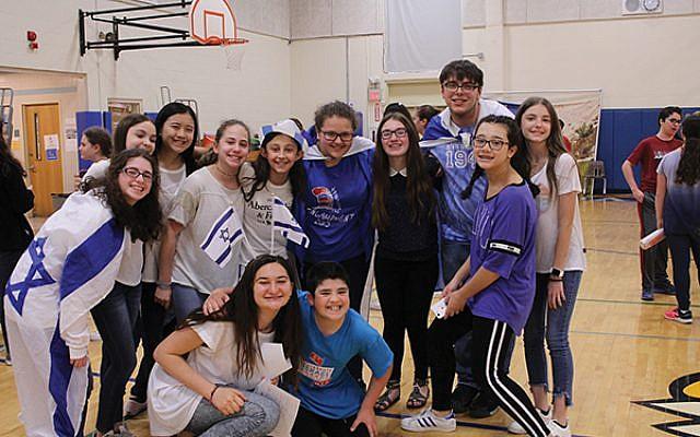 Students at Golda Och Academy in West Orange celebrate Israel.  Photo courtesy GOA