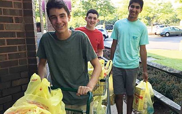 Young volunteers from the West Windsor Boys Charity Group.