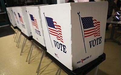 Booths set up in Florida for early voting which began this week. Joe Raedle/Getty Images