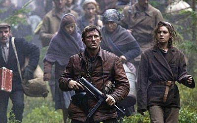 """""""Defiance"""" (2008), about the Bielski Brothers partisans' rescue of hundreds of Jews in Nazi-occupied Belarus."""