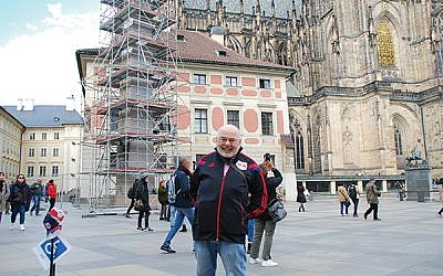 The author in the courtyard of St. Vitus Cathedral in Prague. Photos courtesy Alan Richman