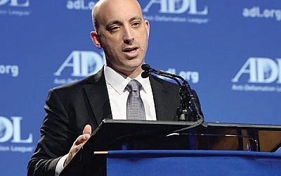 ADL chief Jonathan Greenblatt at 2014 annual meeting in L.A.: Steering a course littered with land mines. Courtesy of ADL
