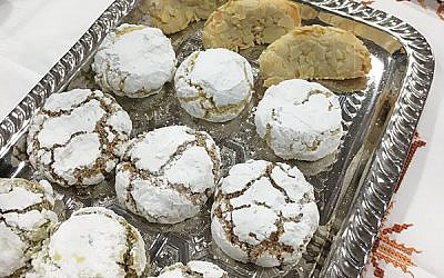 "Meska Sweets's Moroccan-style cookie covered in powdered sugar won  Kosherfest's Best ""Sweet Snacks and Cookies.""Photo by Shira Vickar-Fox"