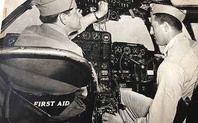 Lt. Col. Maurice (Maish) Raffel, at right. Photo courtesy Martin Raffel