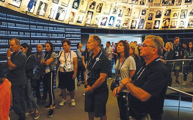 A visit to Yad Vashem: The World Holocaust Remembrance Center included a tour and outdoor ceremony.