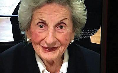 Hattie Segal at Rosh HaShanah 2018. Courtesy Segal family
