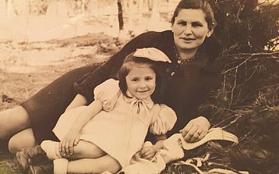 Lola Kline of Freehold with her mother, Taibe Dzienciolski, in a displaced persons camp after the war. Photo Courtesy Lola Kline