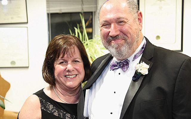 Rabbi Eric Wisnia with his wife Judith. Photo by Barry Korbman
