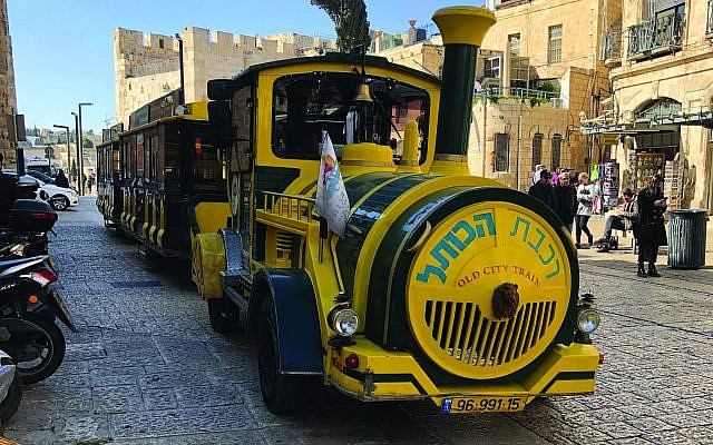 "The ""Old City Train,"" presumably built by King Solomon. Photos by Gabe Kahn"