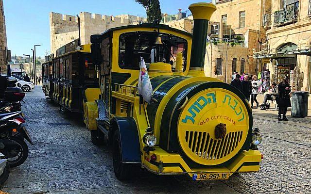 "The ""Old City Train,"" presumably built by King Solomon. Photos by Gabe Kahn"
