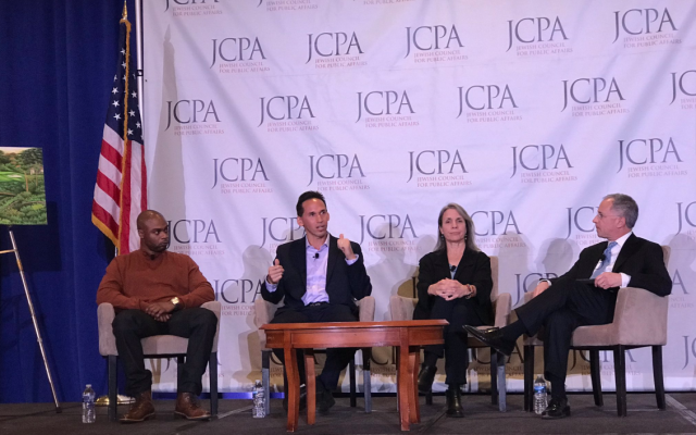 """""""Mass incarceration is our generation's Civil Rights Movement,"""" said Marc Howard, founder of the Georgetown University Prisons & Justice Initiative at a panel on criminal justice at the JCPA conference in Washington D.C. this week. Twitter/JCPA"""