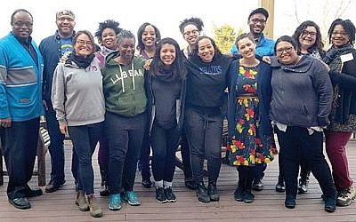 URJ JewV'Nation Fellowship's Jews of Color cohort. (Aliza Greenberg for URJ)