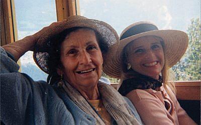 Anita Landsberger, at left, and Barbara Kenas in Switzerland.