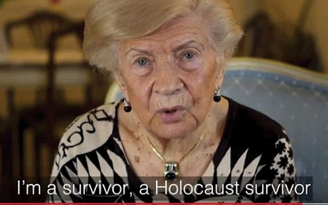 """In a World Jewish Restitution Organization video, Holocaust survivor Greta Mares says the Nazis came and took """"everything of value"""" from her family. WJRO"""