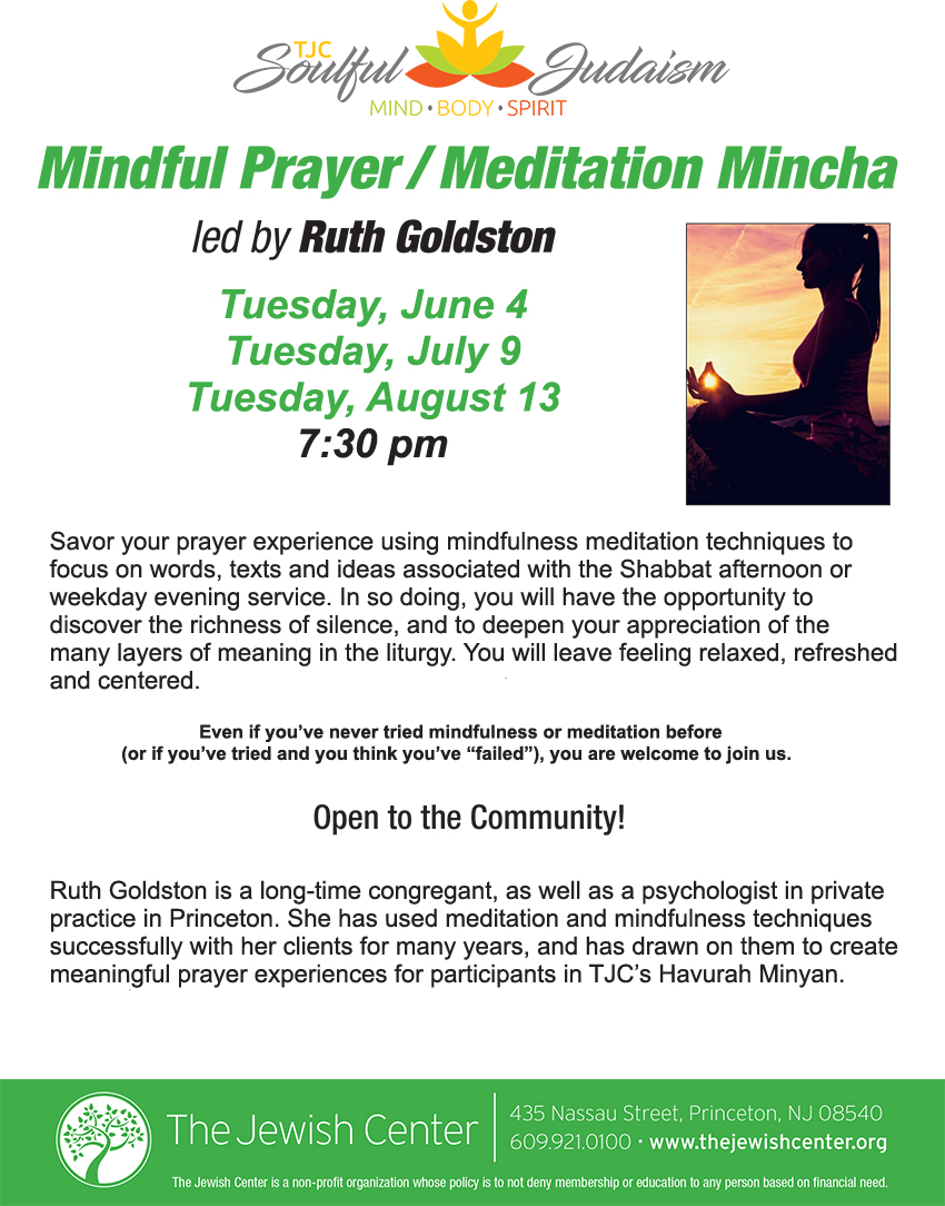 TJC Flyer Meditation Mincha
