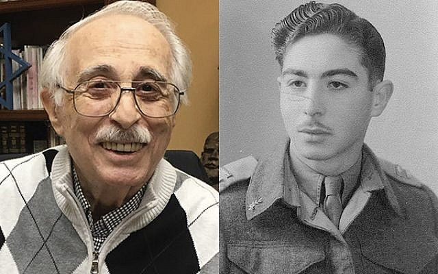 Left, Fred Biermann of South Orange, a former member of the Haganah, also served in the IDF and the U.S. Army. Right, Fred Biermann in his IDF uniform circa 1951. Photo by Shira Vickar-Fox / Photo Courtesy Fred Biermann