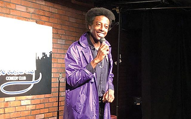 "Afro-centric humor: Roslyn native James ""The Sha"" Beamon is this year's Funniest Jewish Comedian. Gloria Davidson"
