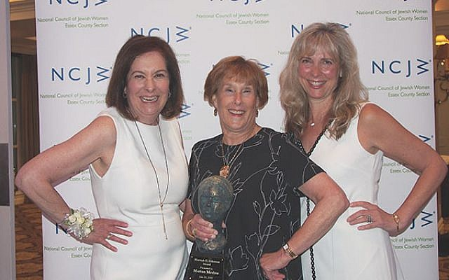 NCJW award recipients are, from left, Leslie Lavinthal, Marion Medow, and Elisa Madorsky.