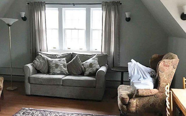 Bnai Keshet renovated a third-floor apartment for families seeking sanctuary from federal authorities. Photo courtesy Bnai Keshet