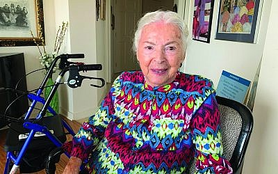 Lillian Bressman shortly after her 97th birthday. Photo by Johanna Ginsberg