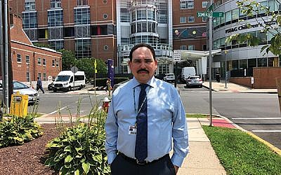 """Michael Leviton, at Robert Wood Johnson University Hospital in New Brunswick, said many people """"don't realize how important donating blood is."""" Photo by Jennifer Altmann"""