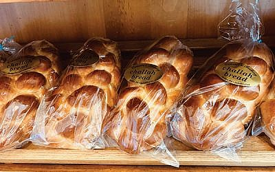 Challahs for sale at Cramer's Bakery in Yardley, Pa., which has been certified kosher since 1993. Photos by Jed Weisberger