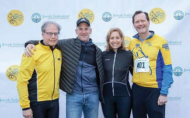 Tour de Summer Camps NJ co-chairs at the inaugural Tour de Summer Camps NJ event in 2018 included, from left, Jon Ulanet, Eric Sellinger, Susan Ratner, and Gary DeBode. Photo by Jon Pascol