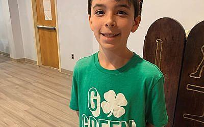 Shayne Cytrynbaum, Golda Och Academy seventh-grader and climate change activist. Photo by Johanna Ginsberg