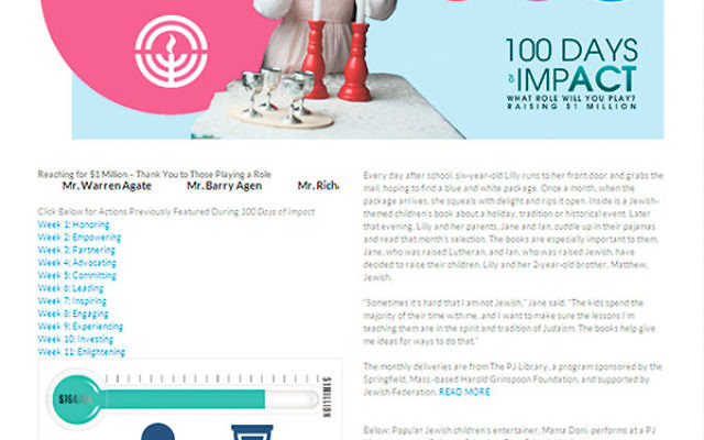 The 100 Days of ImpACT campaign has featured a new personal story each week, telling how federation programs make a difference in people's lives.
