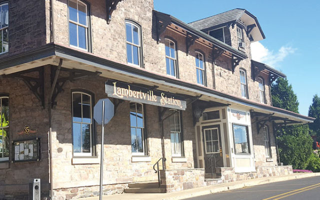 A repurposed train depot, Lambertville Station is now a historic inn and restaurant.
