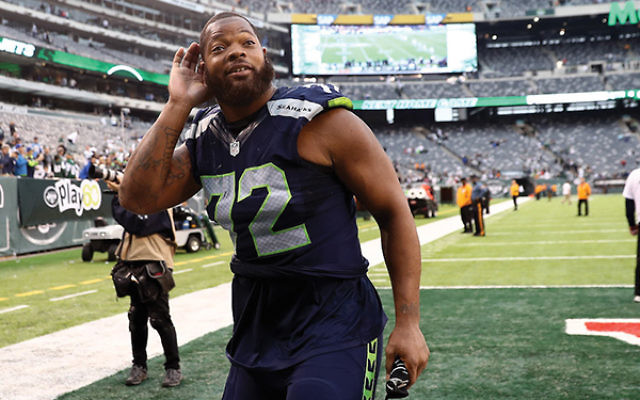 """Seattle Seahawks defensive lineman Michael Bennett said he felt """"used"""" by the government of Israel. Getty Images"""