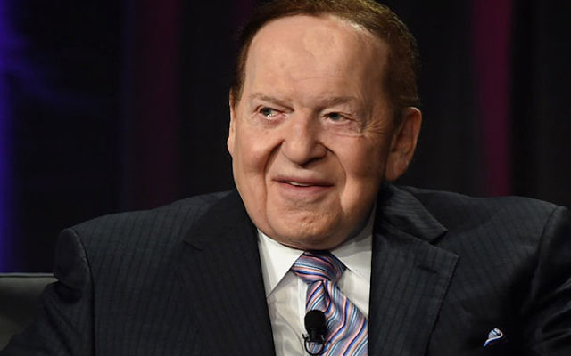 Sands Corp. Chairman and CEO Sheldon Adelson speaking at the Global Gaming Expo (G2E) 2014 at The Venetian Las Vegas in Las Vegas, Nevada, Oct. 1, 2014.