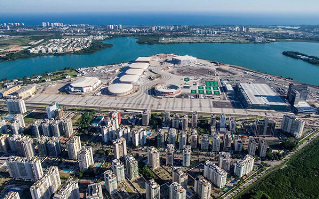 An aerial view of the Rio 2016 Olympic Park, which will be secured in part by an Israeli high-resolution imaging satellite. (Photo courtesy Rio 2016)