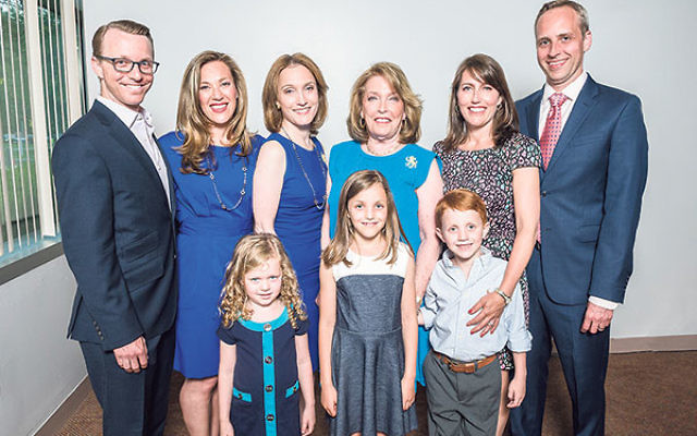 Honoree Maxine Murnick, third from right, is surrounded by her family members at the annual meeting of the Jewish Federation of Greater MetroWest NJ.