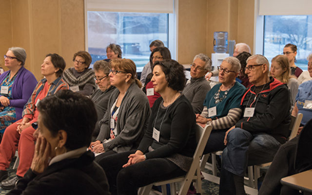 Participants in the Limmud NY 2016 conference held in Connecticut. The event, now in its 13th year, draws hundreds of participants for several days of Jewish learning and is staffed by volunteers. Photo courtesy Art M. Altman