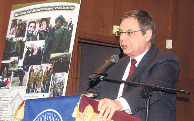 """Danny Ayalon told students at the Jewish Educational Center that """"all Jews should feel responsible for the State of Israel. Israel belongs to all of us."""""""