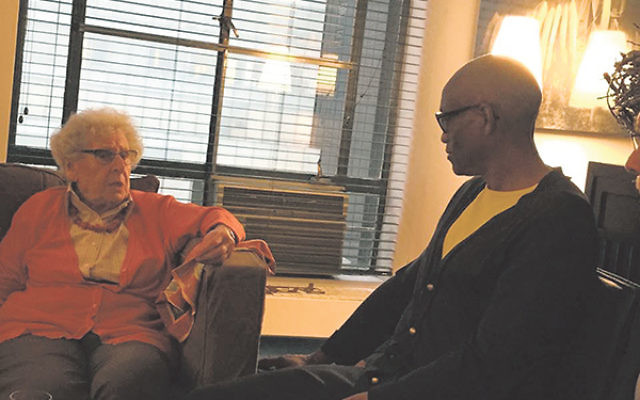 Bill T. Jones with, Shoa survivor Dora Amelan, who inspired him to create Analogy/Dora: Tramontane.