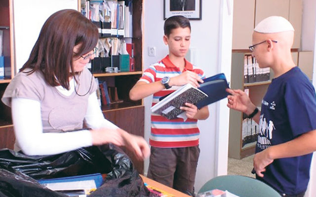 Some of the Boys Town's students who are benefiting from Seth Marx's innovative bar mitzva project.